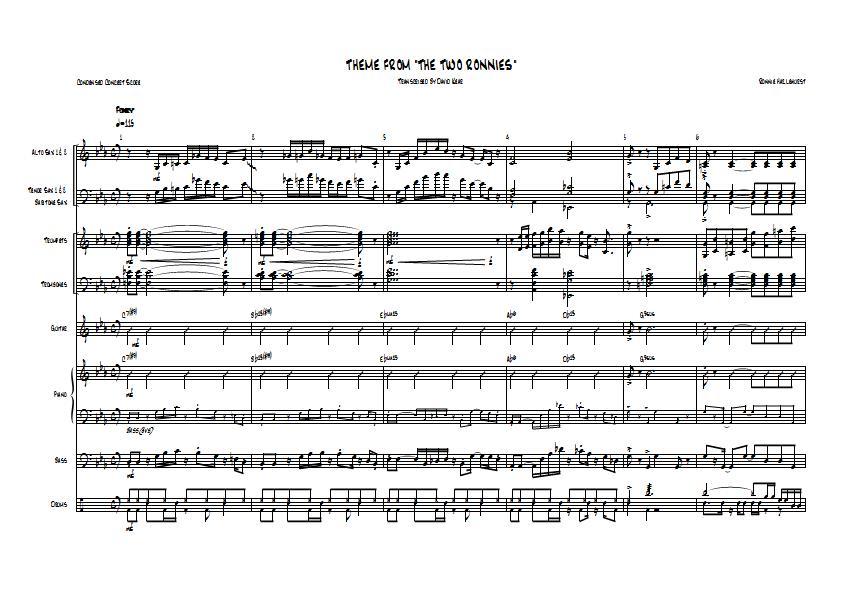 All Music Chords online sheet music download : Two Ronnies Theme - Ronnie Hazlehurst - Big Band Arrangement ...