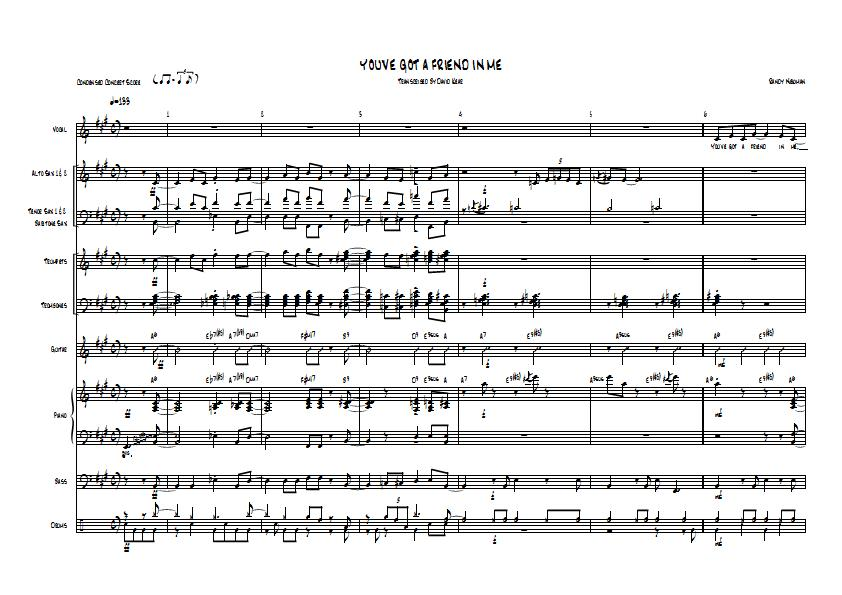 Youve Got A Friend In Me Toy Story 2 Big Band Arrangement